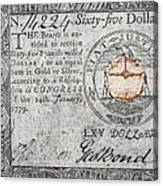 Continental Currency, 1779 Canvas Print