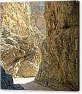 Contrasting Canyon Colors In Big Painted Canyon Trail In Mecca Hills-ca Canvas Print