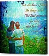 1 Corinthians 2 9 Canvas Print