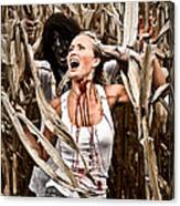 Corn Field Horror Canvas Print