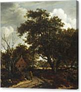 Cottages In A Wood Canvas Print