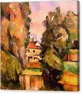 Country House By A River Canvas Print