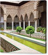 Courtyard Of The Maidens In Alcazar Palace Of Seville Canvas Print