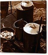 Cowboy Cooking Canvas Print