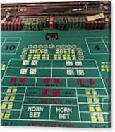 Craps Table At Harrah's Cherokee Casino Resort And Hotel Canvas Print
