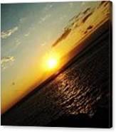 Crooked Sunrise Canvas Print