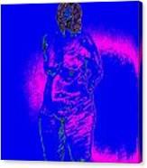 Croquis In Blue Canvas Print