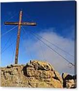 Cross At Capu Di A Veta Near Calvi Canvas Print