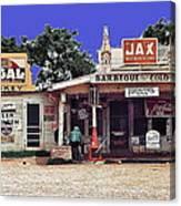 Crossroads Store Bar Juke Joint And Gas Station Fsa Marion Post Wolcott Melrose Louisiana Canvas Print