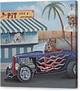 Cruizin' At Da L.a. Pit Canvas Print