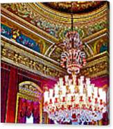 Crystal Chandelier In Dolmabache Palace In Istanbul-turkey  Canvas Print