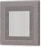 Crystal White And Gray Dots Design Pattern Shade Deco Decoration Canvas Print
