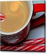 Cup Of Christmas Cheer - Candy Cane - Candy -  Irish Cream Liquor Canvas Print