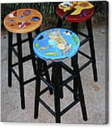 Custom Barstools Canvas Print