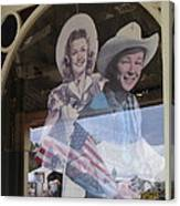 Dale Evans Roy Rogers Cardboard Cut-outs Flag Reflection Helldorado Days Tombstone 2004 Canvas Print