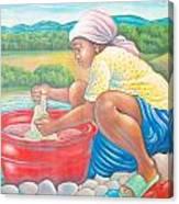 Dame A La Riviere Canvas Print