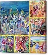 Dancing Friends Canvas Print