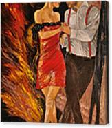Dancing The Tango Canvas Print