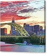 Daniel C Beard Bridge In Cincinati  B9925 Canvas Print