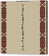 Darcy Written In Ogham Canvas Print