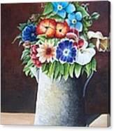 Deanne's Flower Pot Canvas Print