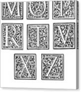 Decorative Initials, C1600 Canvas Print