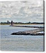 Delaware Breakwater East End Lighthouse Canvas Print