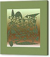 Delicate Green Stroke Canvas Print