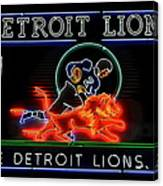Detroit Lions Football Canvas Print
