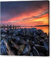 Dewey Beach Sunset Canvas Print