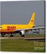 Dhl Airbus A300 Canvas Print