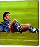 Diego Maradona 2 Canvas Print