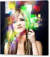 Digital Future Of Business Communication Canvas Print
