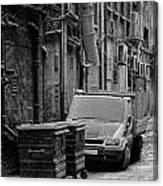 Dirty Back Streets Mono Canvas Print