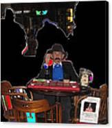 Doc Holliday Teaching Faro Crystal Palace Saloon Tombstone Arizona 2004  Canvas Print