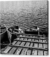 Dock At Island Lake Canvas Print
