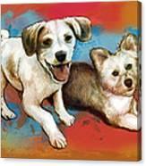 Dog Stylised Pop Modern Art Drawing Sketch Portrait Canvas Print