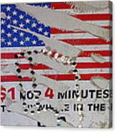 1 Dollar For Four Minutes Sign Telephone American Flag Eloy Arizona 2005 Canvas Print