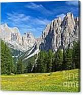 Dolomites - Catinaccio Mount Canvas Print