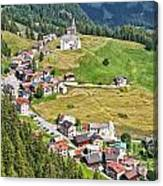 Dolomiti - Laste Village Canvas Print