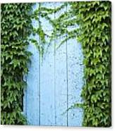 Door Framed By Plants Canvas Print
