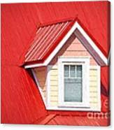 Dormer Window On Red Roof Canvas Print