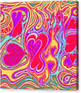Double Broken Heart Canvas Print