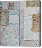 Double Doors Of Unfinished Projects In Blue  Canvas Print