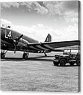 Douglas C-47a Skytrain Ready For D-day Canvas Print