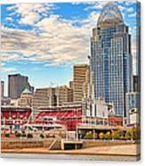 Downtown Cincinnati Pano1 Canvas Print