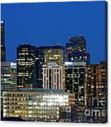 Downtown Denver At Dusk Canvas Print