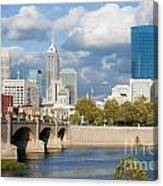 Downtown Indianapolis Indiana Canvas Print