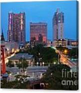 Downtown San Antonio Texas Skyline Canvas Print
