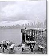 Downtown Seattle As Seen From Alki Beach Canvas Print